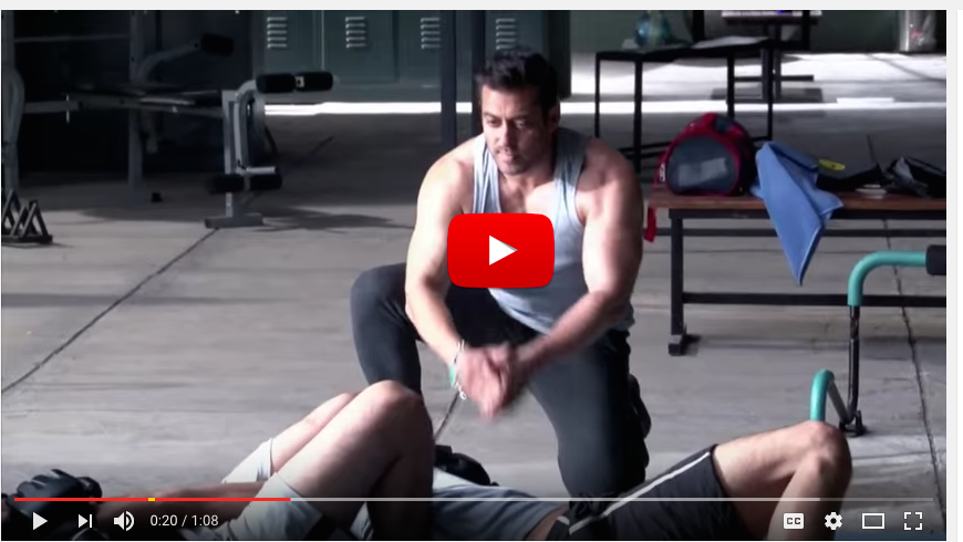 Salman Khan workout routine. He does intense workout like 1000 push ups and loves cycling. He exercises for atleast 3 hours daily.