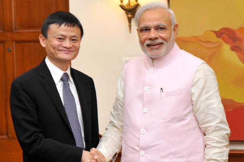 Jack ma With Modi - An Inspirational Story of Jack Ma