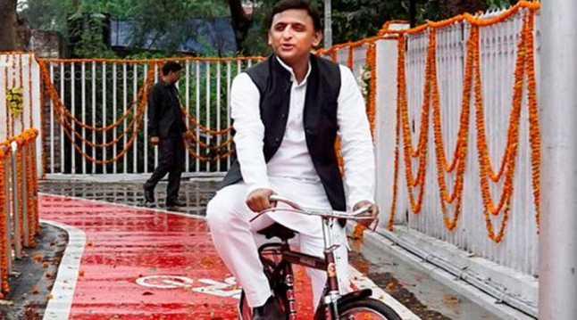 Akhilesh Yadav cycle2