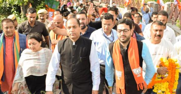 धर्मशाला में विशाल रैली में मुख्यमंत्री जयराम ठाकुर जी का कांग्रेस को करारा जवाब,रैली मिला समर्थन देख घबराई कांग्रेस