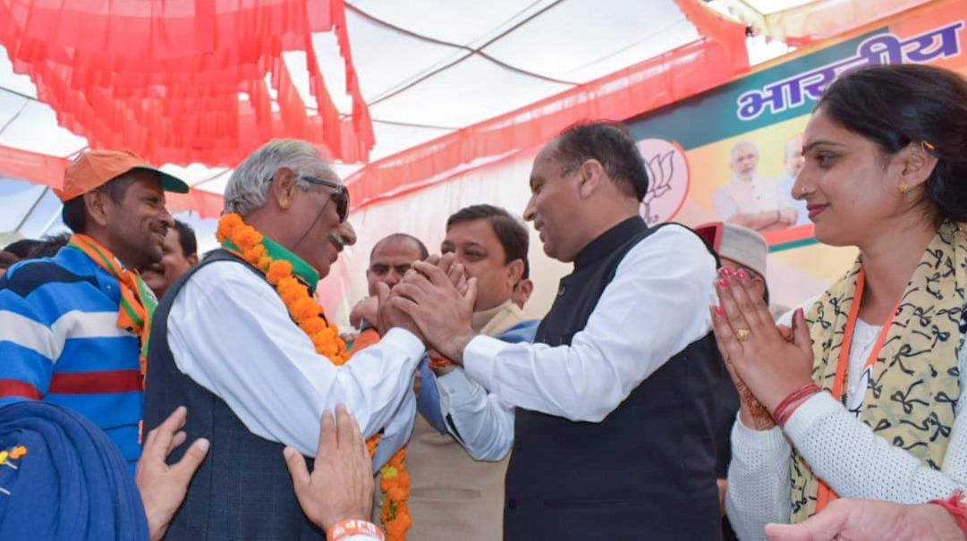 भाजपा प्रत्याशी रीना कश्यप के समर्थन में मुख्यमंत्री जयराम ठाकुर की बड़ी जनसभाएं उमड़ा लोगों का जनसैलाब,कई परिवार भाजपा में शामिल जीत हुई और पक्की