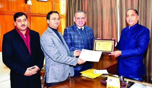मुख्यमंत्री जयराम ठाकुर के नेतृत्व में शुरू किये गए हिम प्रगति पोर्टल को उत्कृष्टता पुरस्कार